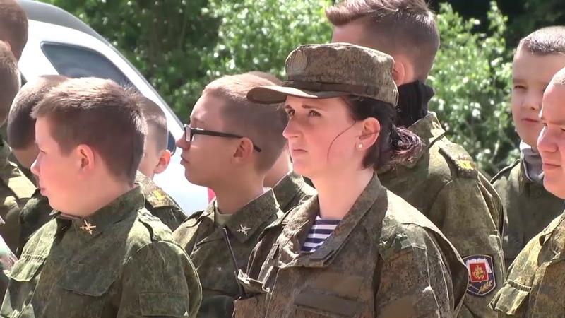 В Спасо-Преображенском монастыре Пронска открылась смена кадетского лагеря