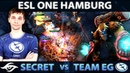 SECRET vs EG - First EPIC SERIES of the Day - ESL ONE Hamburg Group Stage - Dota 2