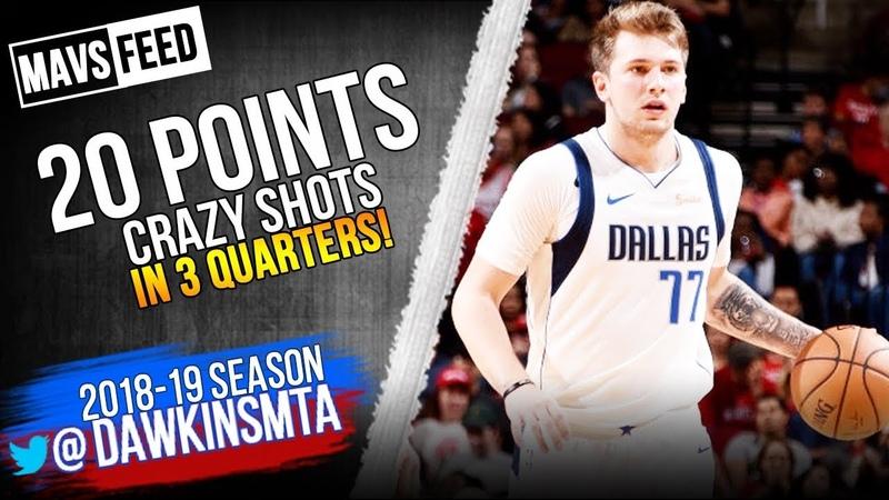Luka Doncic Full Highlights 2018.11.28 vs Rockets - 20 Pts, CRAZY SHOTS! Mavs Feed | FreeDawkins