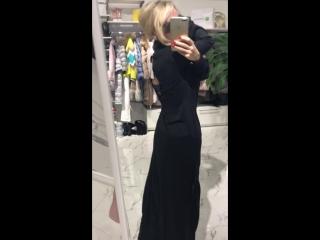 платье черное макси