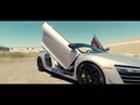 Audi R8 with One Motion Vertical Lambo Door kit installed by Vertical Doors, Inc.