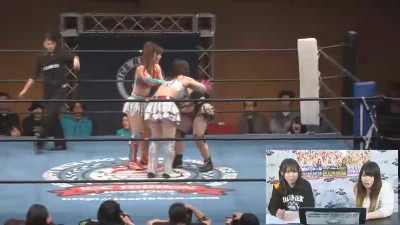 Hamuko Hoshi, Maya Yukihi vs. Hana DATE, Tsukasa Fujimoto (Ice Ribbon - Ryogoku KFC Ribbon 2018)