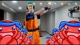 NINJA DOES PON PON DANCE AS SUPER SAIYAN BLUE GOKU COSPLAY