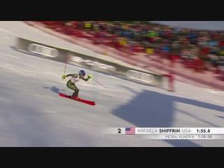 Несмотря на сильное недомогание и находясь на третьем месте после первого спуска, Mikaela Shiffrin сделала всё возможное и невоз