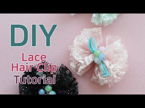 리본공예 DIY/How To Make Hair Accessories/handmade hair accessories/Hair Clip Tutorial/헤어핀 만들기/리본공예