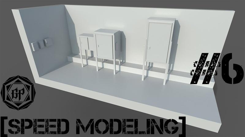 3Ds Max - Моделирование и развертка электрощитков 6