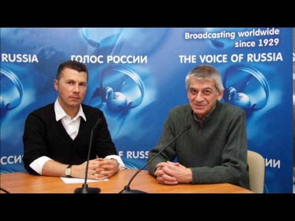 Михаил Верещагин беседует с Виктором Татарским