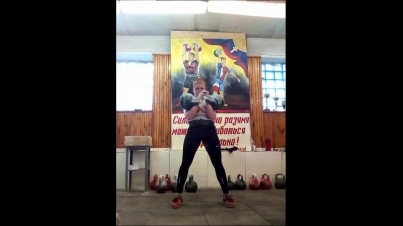 Гиревой триатлон с гирями 24 кг