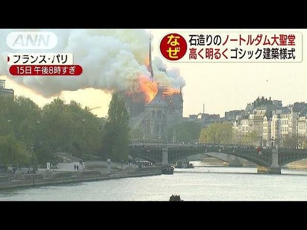 石造りのノートルダム大聖堂 なぜ燃えてしまった?(19/04/16)