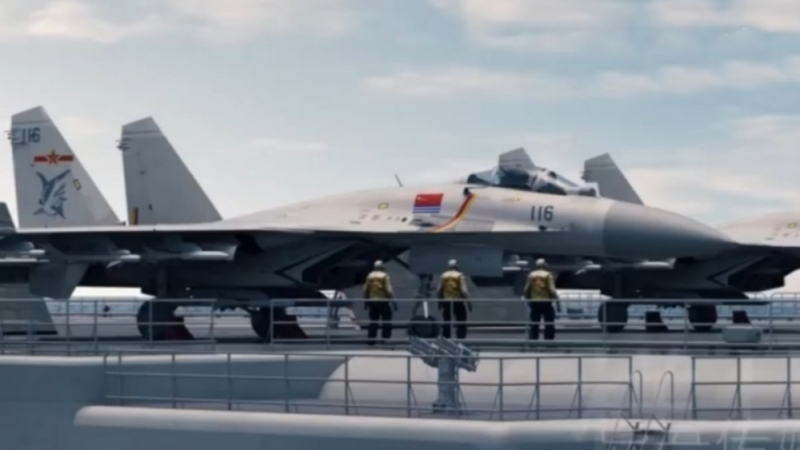 В КНР смоделировали морской бой между авианосными группами кораблей ВМС НОАК и ВМС США