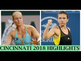Simona HALEP vs Kiki BERTENS HIGHLIGHTS CINCINNATI 2018 FINAL