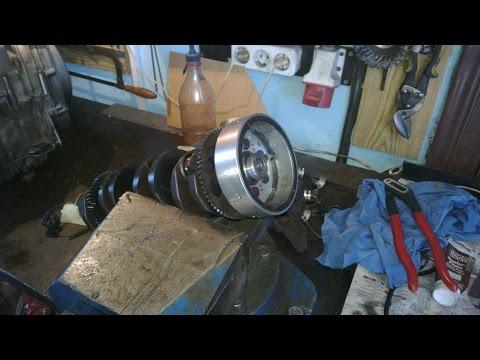 Kawasaki zzr 600-ремонт двигателя замена коленвала