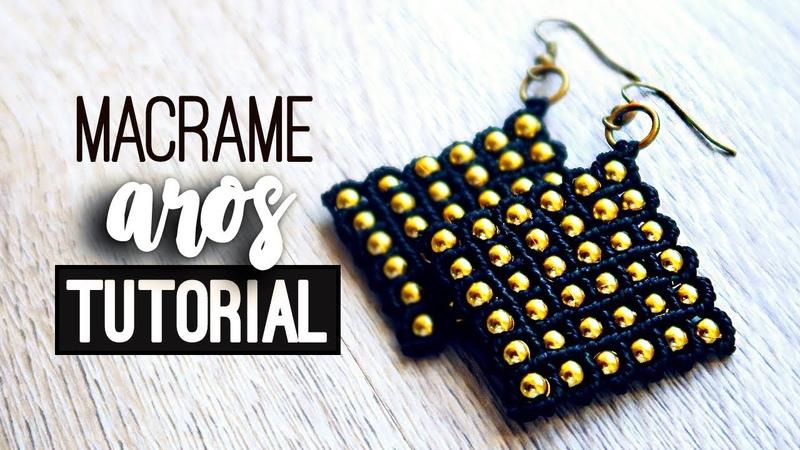 Aros en red » ☀️ tutorial | como hacer | diy ● Earrings 114