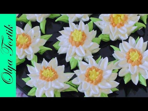 РОМАШКИ из безе мастер-класс Цветы из безе Olya Tortik Домашний Кондитер