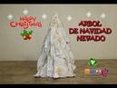 COMO HACER UN ARBOL DE NAVIDAD NEVADO (pinos navideños)