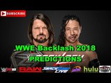 WWE Backlash 2018 WWE Championship AJ Styles vs Shinsuke Nakamura Predictions WWE 2K18
