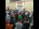 Камышлы. Жители протестуют против закрытия частных школ курдами. курдское самоуправления Рожава