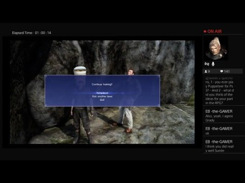 [FFXV no spoilers] Suede Plays A Game While Answering Patron's Questions - EP.07