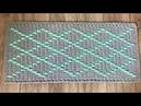 Tapete Losango Spesso com a Técnica do Fio Conduzido em crochê por Marcelo Nunes