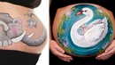 20 Incredible Body-Art Pregnant Belly Painting Video You Must Watch BS ch. 2018