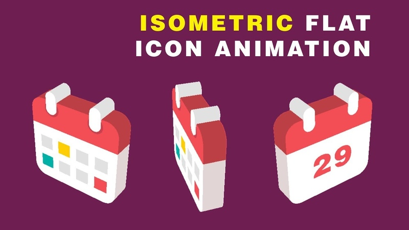 Isometric After Effects Tutorial Flat 3D Icon Animation 03