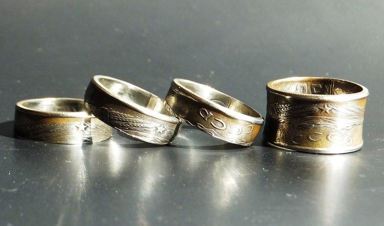 Как из монеты сделать кольцо с гербом СССР rfr bp vjytns cltkfnm rjkmwj c uth,jv ccch