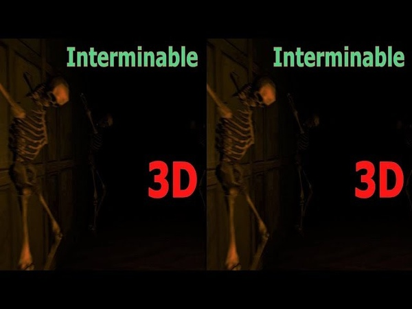 3D VR horror video Interminable 3D SBS VR box Google Cardboard