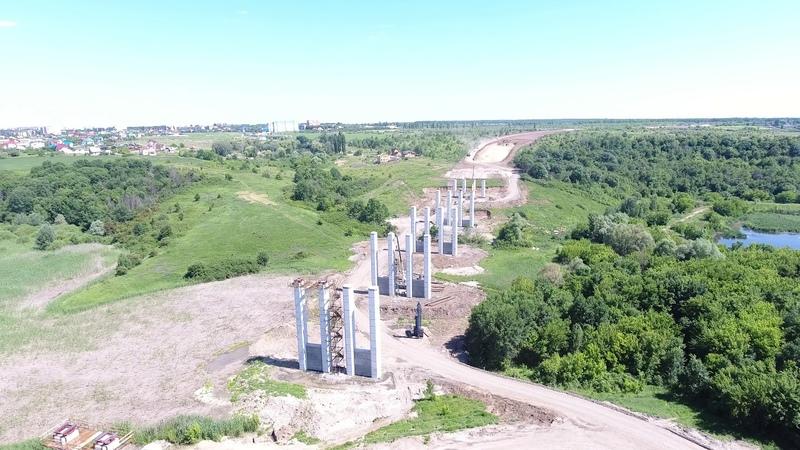 Будівництво естакади в рамках спорудження першої черги обходу м.Полтава