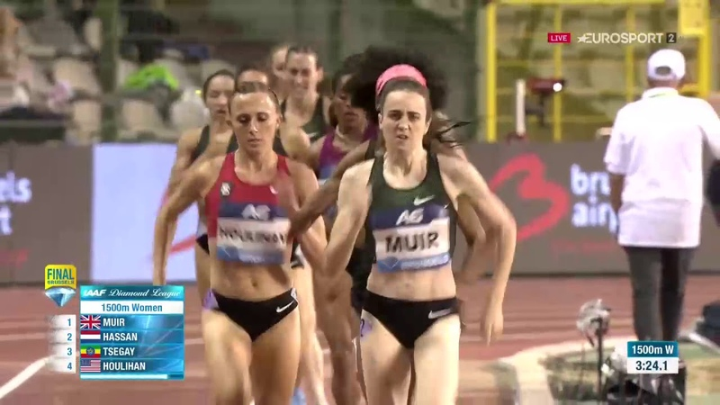 Women 1500m Diamond League Final Brussels 2018