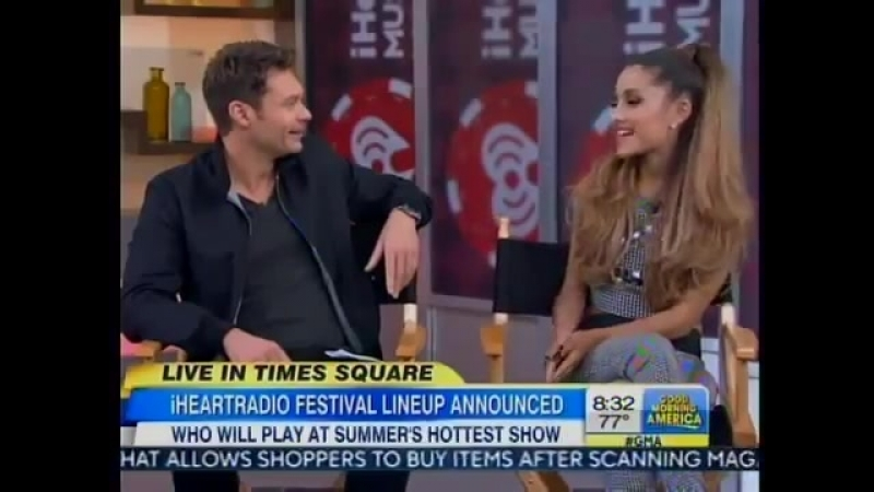 Ariana Grande On GMA With Ryan Seacrest