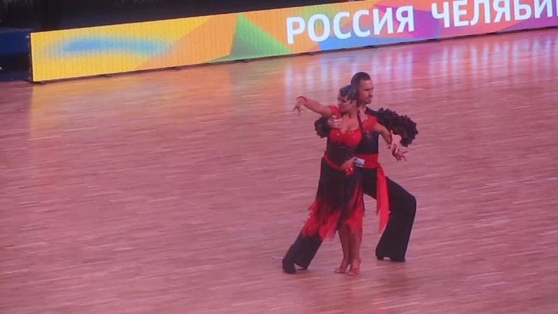 Чемпионат мира по танцевальному спорту среди профессионалов по секвею латиноамериканская программа Челябинск-2018