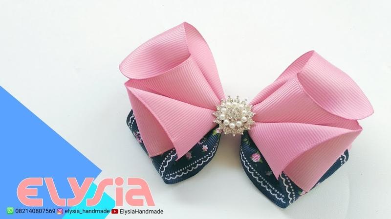 Laço Anna 🎀 Ribbon Bow 🎀 DIY by Elysia Handmade