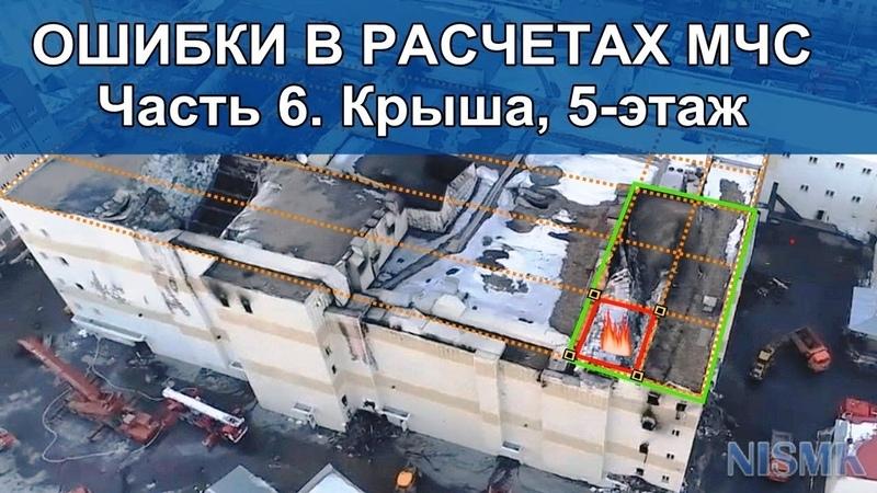 Ошибки в расчетах МЧС. Крыша, 5-этаж ТЦ Зимняя Вишня г. Кемерово. Часть 6