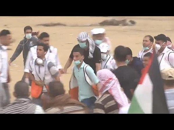 Many injured in Gaza protests