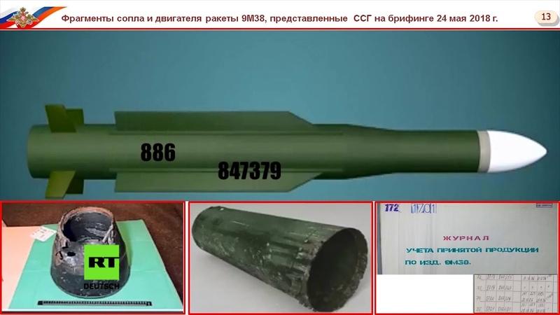 Russland liefert Belege: Flug MH17 wurde mit einer ukrainischen Rakete abgeschossen