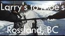 Larry's to Moe's, Rossland B.C - Fat Biking