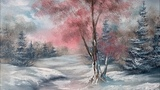 Oil Painting A Winter Landscape (unedited) - Paintings By Justin