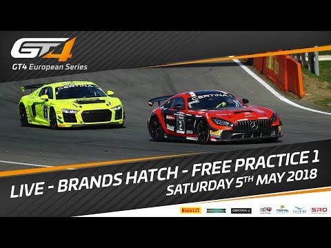 Free Practice 1 - GT4 European Series - Brands Hatch 2018 - Track sound only.