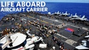USS Gerald R. Ford CVN 78 Flight Deck Activity Life Aboard Aircraft Carrier
