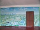 Розпис стін в 33 й Криворізькій школі панорама міста стіна перша