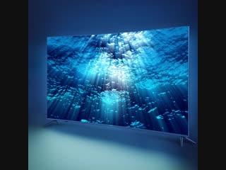 Изогнутый экран 4k-телевизора haier