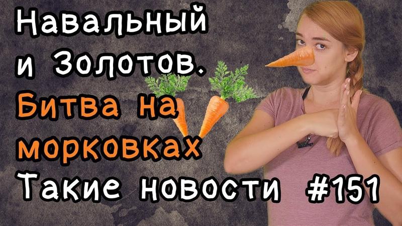 Навальный и Золотов Битва на морковках Такие новости №151