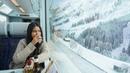 Glacier Express in Winter Snow: From Zermatt to St Moritz (Interrail/Eurail)