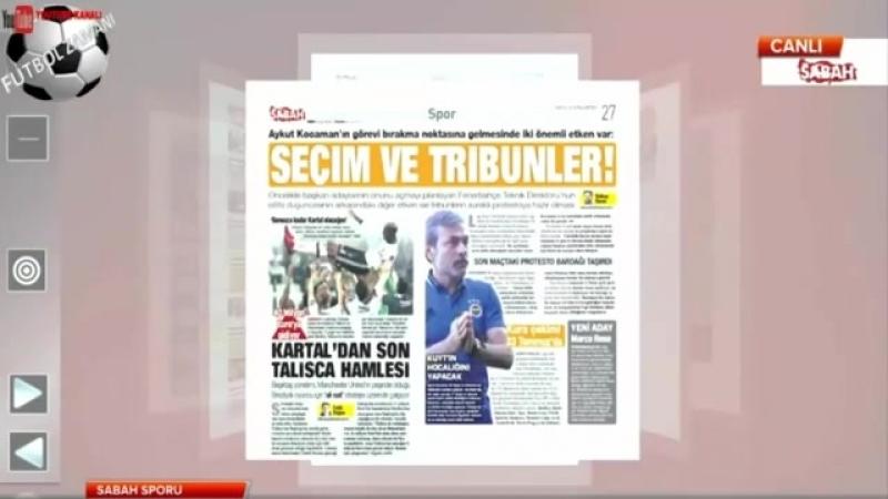 Sabah Sporu 21 Mayıs 2018 Galatasaray 21. Kupasını Aldı ve Fenerbahçe Yorumları