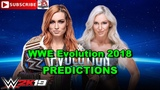 WWE Evolution 2018 SmackDown Womens Championship Becky Lynch vs Charlotte Flair Last Woman Standin
