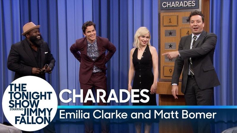 Charades with Emilia Clarke and Matt Bomer