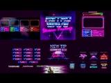 Пакет Full Stream Пакет ретро волнового СТРИМА Стилированные наложения и оповещения в стиле ретроградных стилей 80-х годов