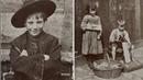 Беспризорники Лондона Фотографии 100-летней давности .
