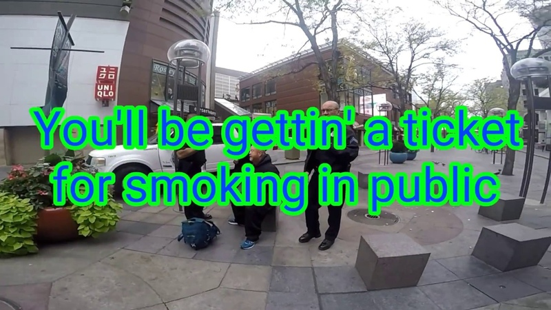 Homeless Man arrested for smoking in public by Sgt Guzman Kitchens Fat bitch Chavez
