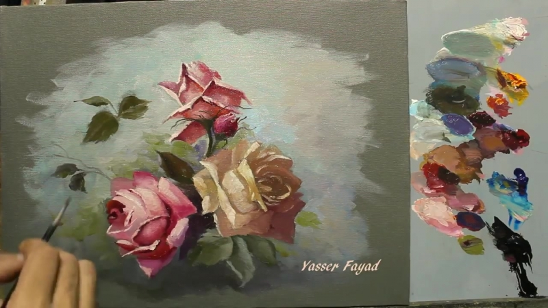 4 Oil Painting Roses With Yasser Fayad